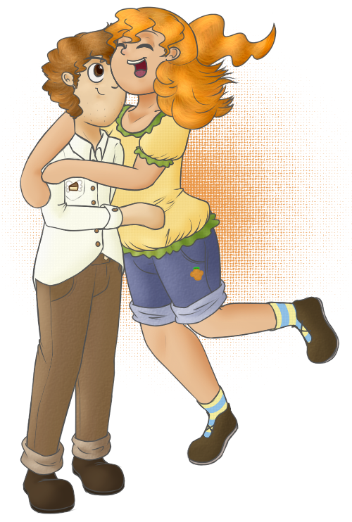 Human Pumpkin and Pound Cake by TastyPony
