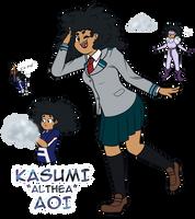 Kasumi Aoi - BNHA OC by LynnesGalaxy