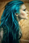 The girl with turquoise hair