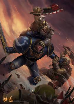 Spacemarine vs Orcs
