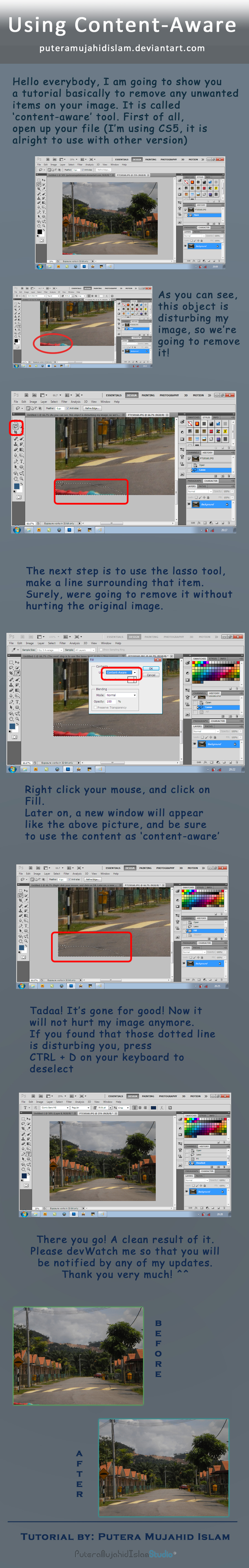 Adobe Photoshop Content-Aware Tutorial by PuteraMujahidIslam