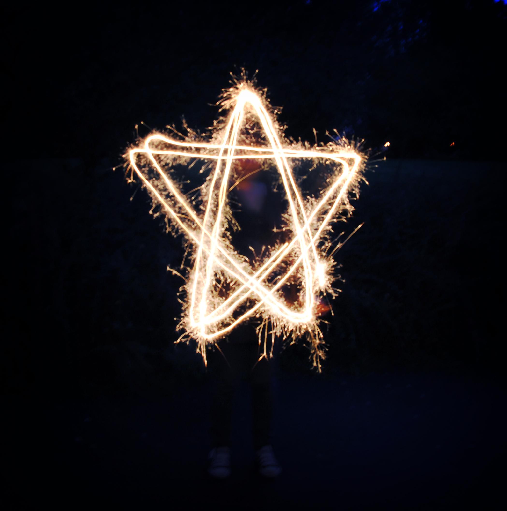 Light painting : star