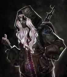 Commission_ Looks like Darkwood game by Dya-DyaFedya