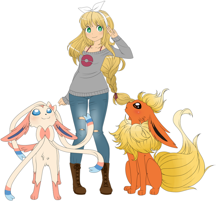 Pokemon Trainer OC redrawn by MagicaRin