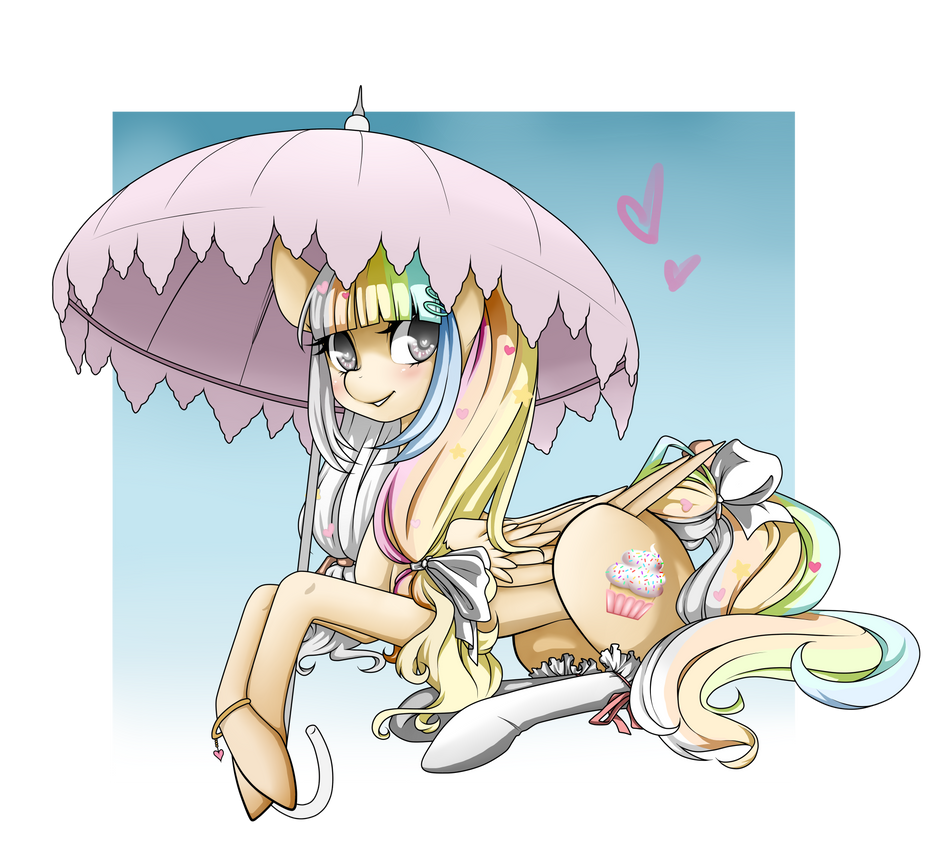 I won her, so her name is now ANGEL CAKE! by MagicaRin
