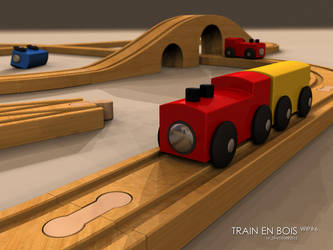 Wood Toy Train - Wip by lasaucisse