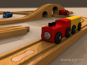 Wood Toy Train - Wip