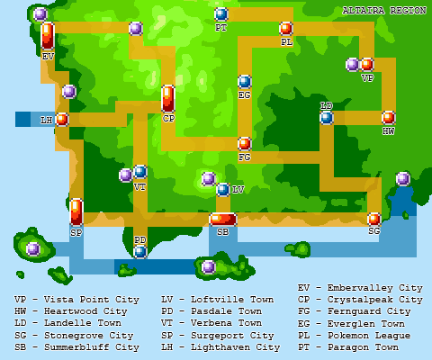 Pokemon Zenith Altaira Region Town Map by Winged-kitsune