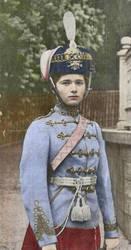 Grand Duchess Olga in her regiment uniform