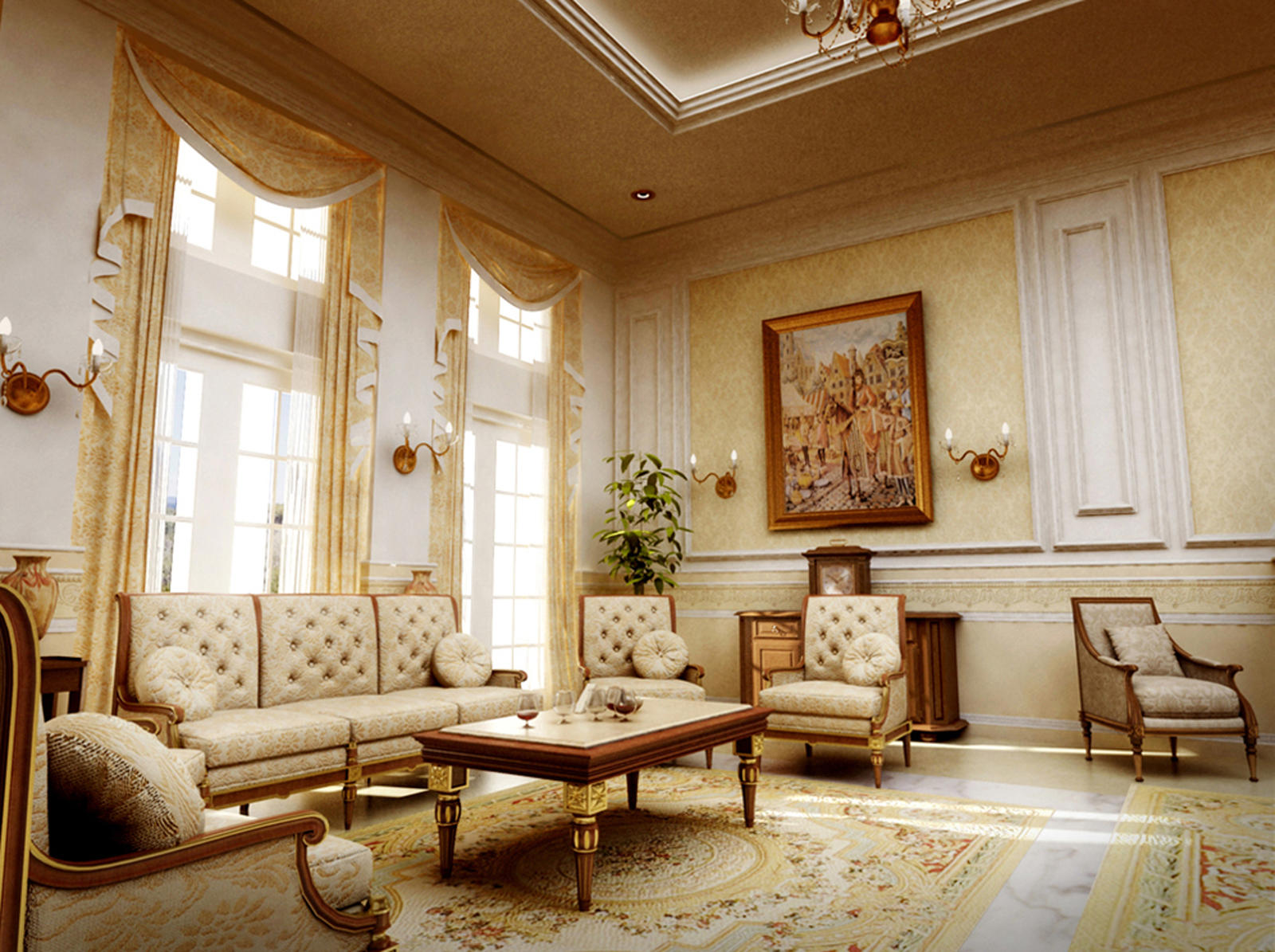 Classic interior by aboushady81 on deviantart for Classic interior house colors