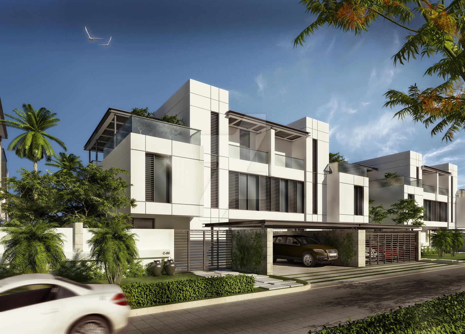 G 2 modern town houses by aboushady81 on deviantart for Town house plans modern