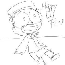 Dib Happy Eid Fitr | SPEED SKETCH