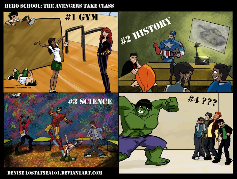 Hero School: The Avengers Take Classes by lostatsea101