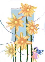 Chibi loves Flowers by Snowlyn