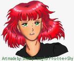 Headshot-Art-for-F-l-u-t-t-e-r-Shy by Snowlyn