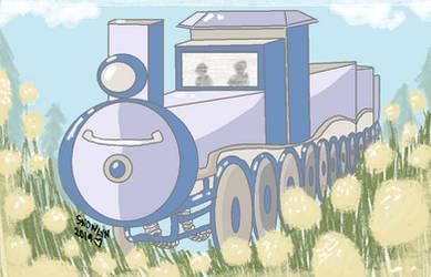 Train art for mockingbirdontree by Snowlyn