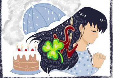 Cake Luck Rain Girl July 13 by Snowlyn