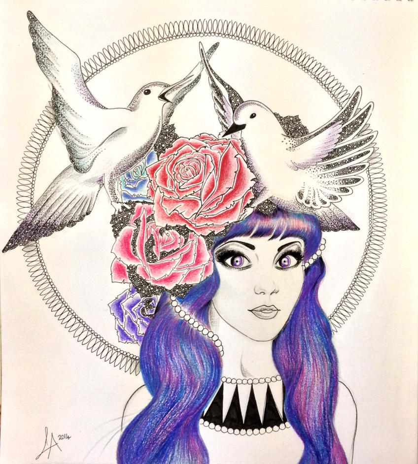 Rosy Birds by laurenlouiseallen