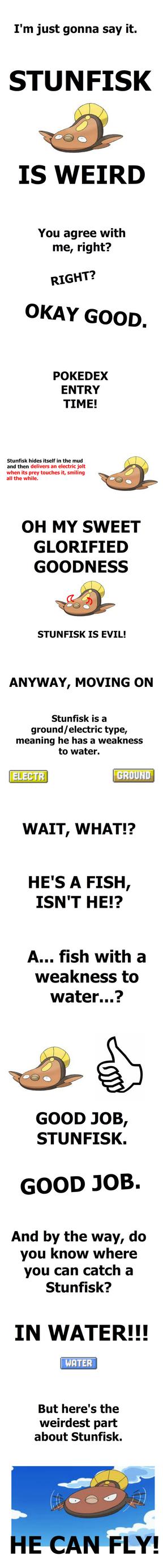 When Stunfisk Fly by Tayzonrai