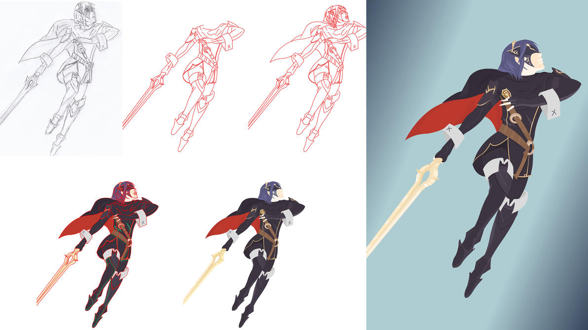 FE Lucina work phases [vector] by flash-and-blood