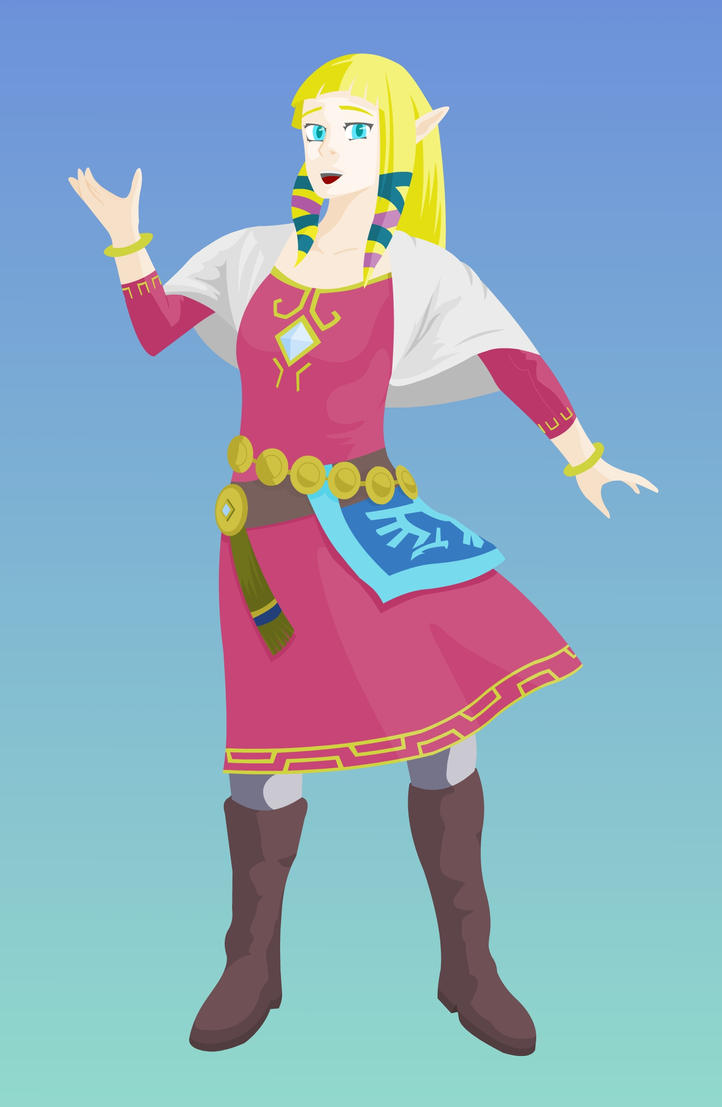 Princess Zelda [vector] by flash-and-blood