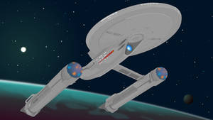 USS Ares [vector] by flash-and-blood