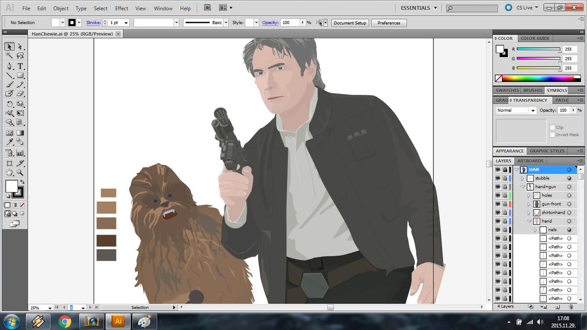 Han+Chewie WIP screenshot by flash-and-blood