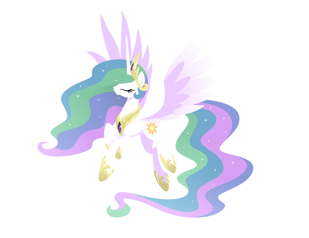 Pokémon: Let's Go Princess_celestia__paper_art_vector__by_hexfloog-d9p2qil