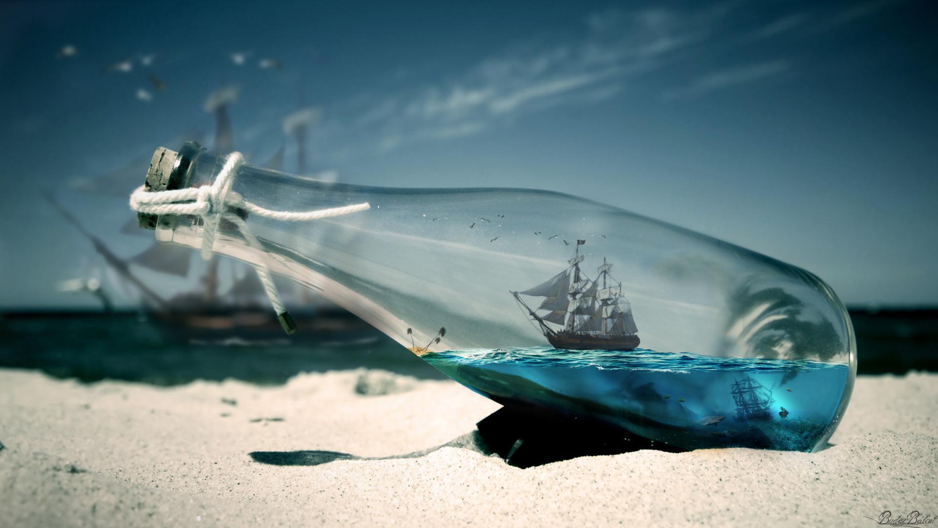 Ship in bottle by balint4