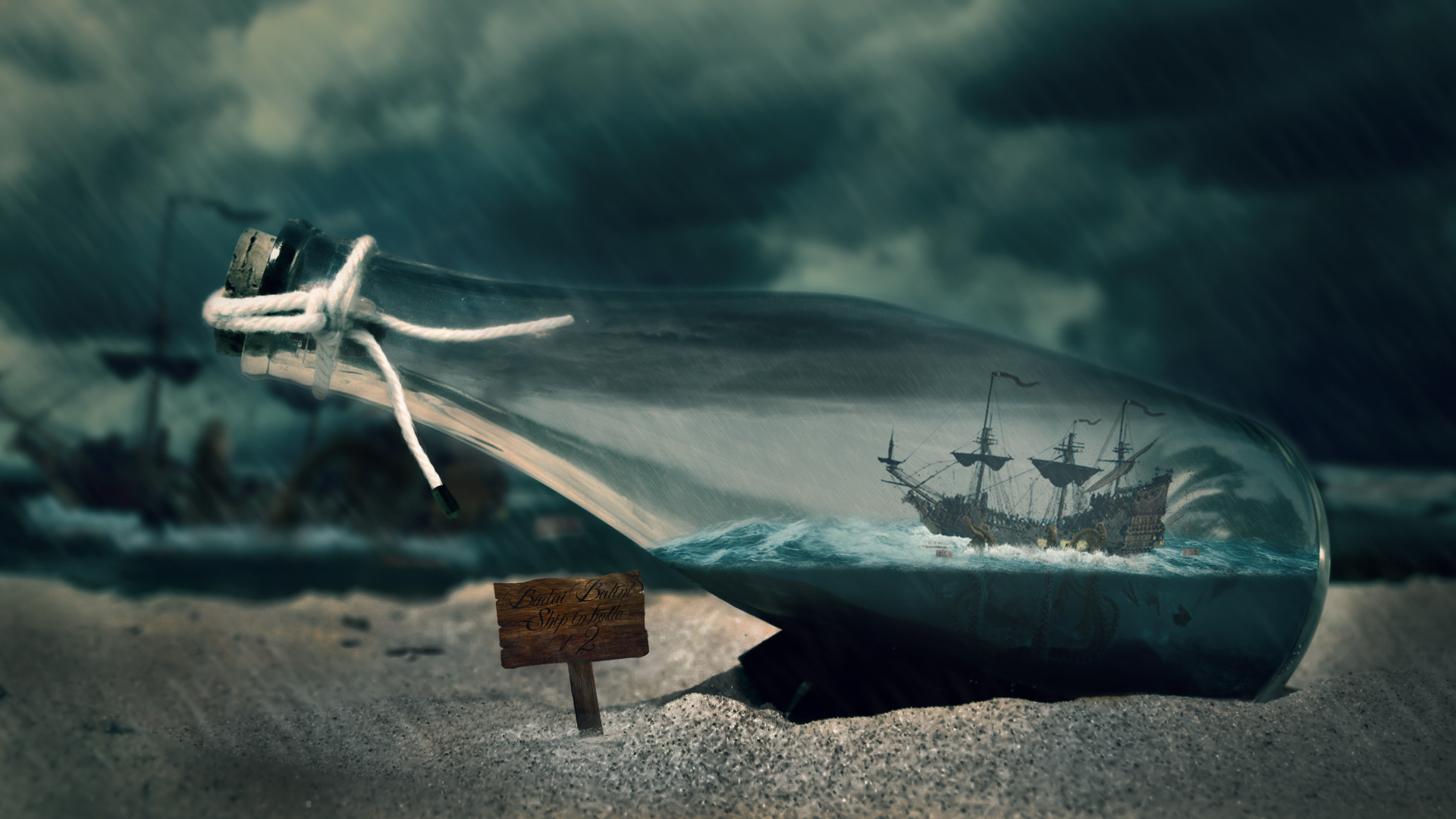 Ship in bottle V2 by balint4
