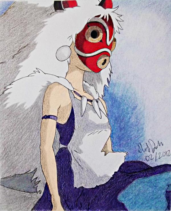 Princess Mononoke - San by tuliipiie