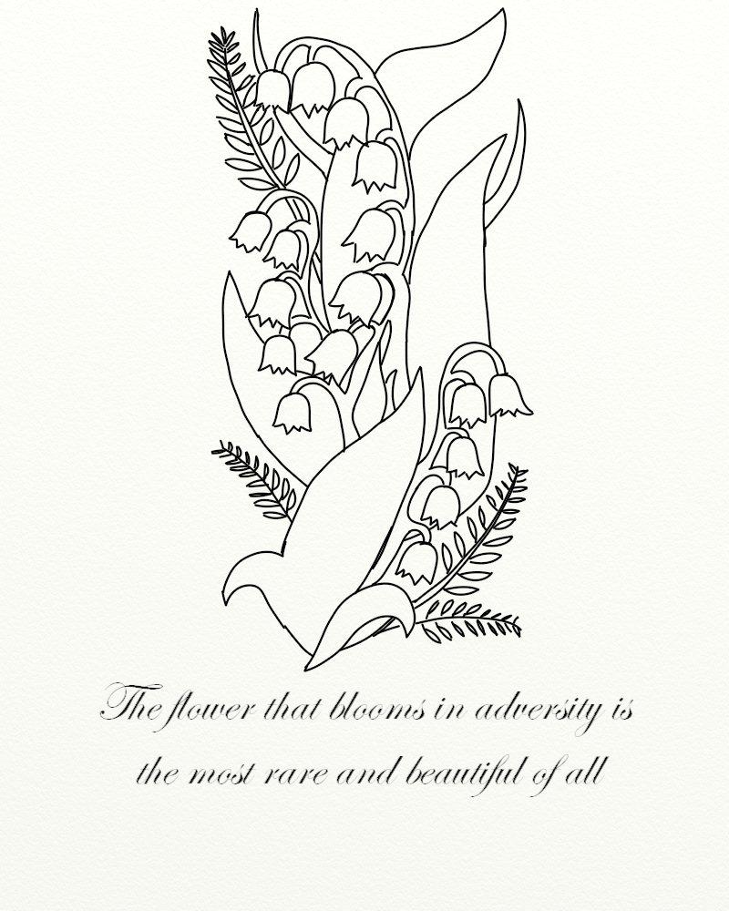 Lily Of The Valley Tattoo: Lily Of The Valley Tattoo By JadeDruid87 On DeviantArt