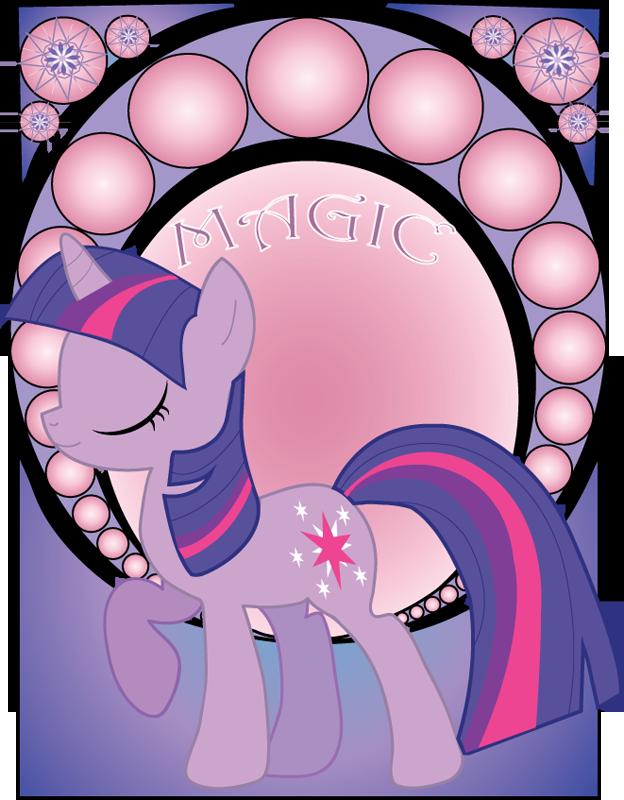 Twilight Sparkle Art Noveau by Jetti-G