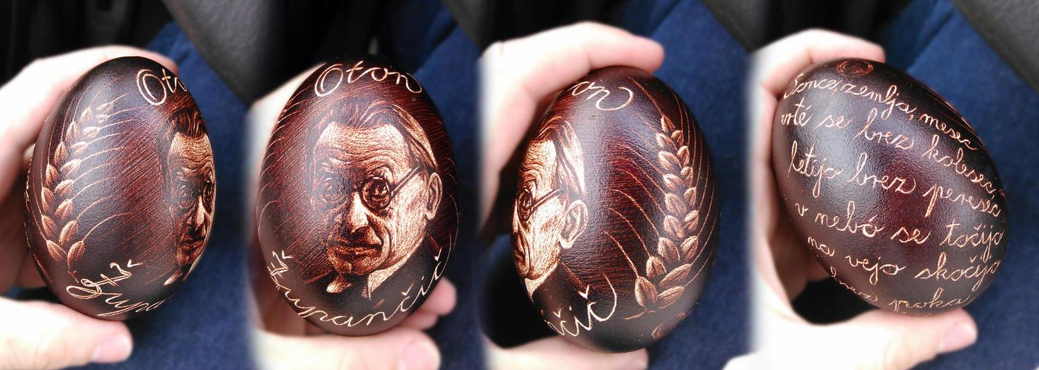 Easter egg - goose egg Poet by FizikArt
