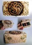 House Targaryen - Wooden Box Pyrography