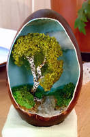 Tree inside an eggshell by FizikArt