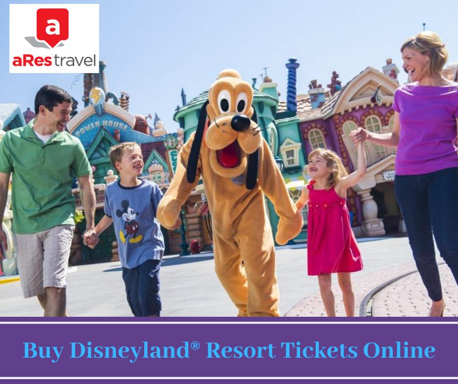 Buy Travel Tickets Online: Buy Disneyland Resort Tickets Online By Arestravel On