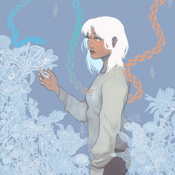 You've left me with ghostly flowers by synodicmeg