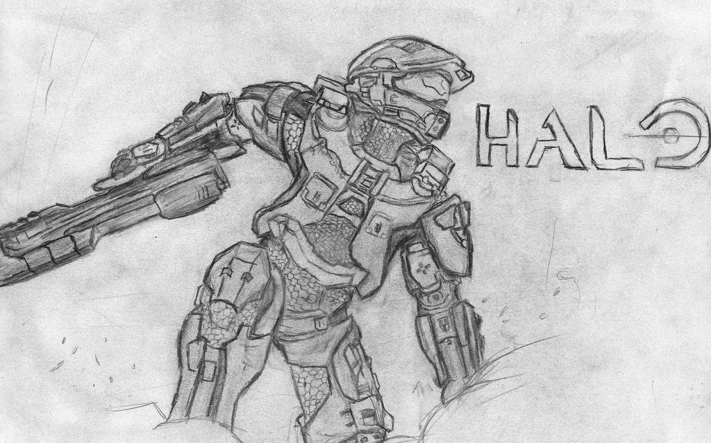 Master Chief Helmet Halo 4 Drawings