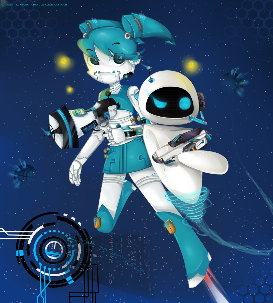 FanArt - XJ 9 and EVE by neko-kumicho-chan