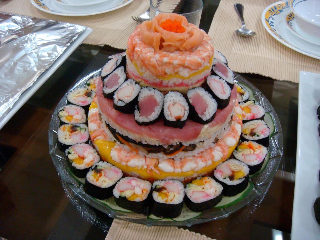 ... sushi cake delicious a sushi wedding cake sushi cake by artisan cake