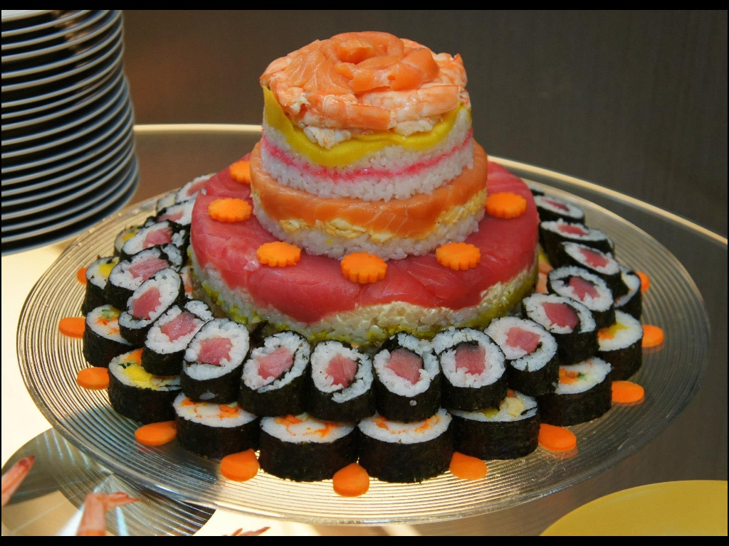 4 Layer Sushi Cake by Bap2s on DeviantArt