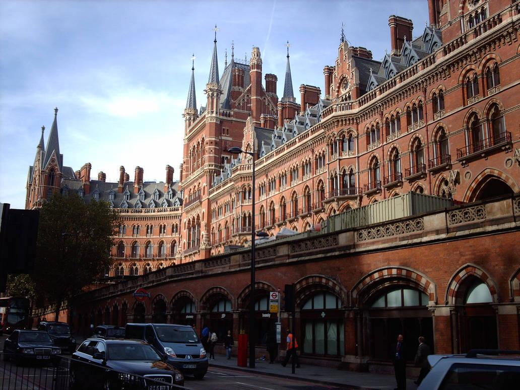 St Pancras Station-London...exterior facade-01
