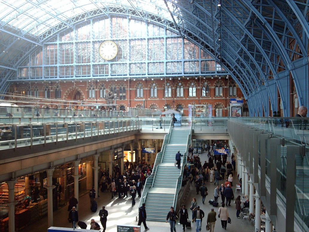St Pancras Station London interior Eurostar-05