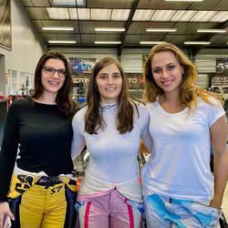 Katherine, Tatiana, Sophia, Racing Car Drivers