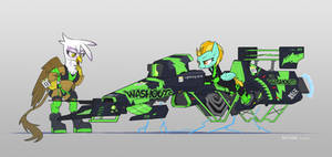 Hover bike and Pony 2