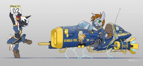 Hover bike and Pony 3