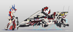 Hover bike and Pony 4