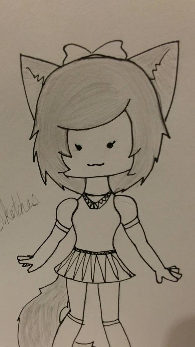 Chibi fox by RandomPaperWork