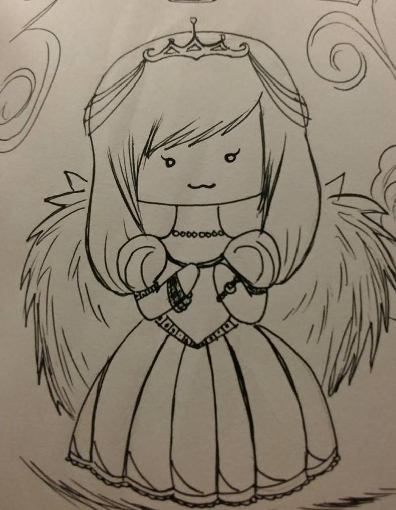 Pen Chibi Princess by RandomPaperWork